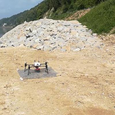 Relevé topographique par drone