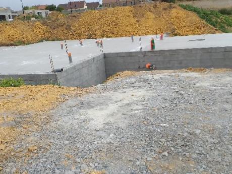 controle topographique de construction d'une maison à ANISY