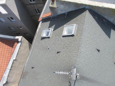 inspection photographique d'une toiture d'immeuble par drone au Havre