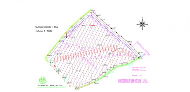 Etablissement de Projet de drainage agricole