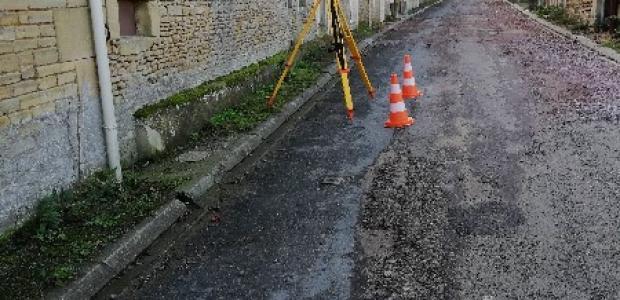 GEO TOPO RANGEE a proximité de Caen, réalisation de levé de voirie